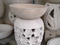 Light Pedestal with Flower Motif