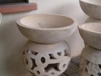 Round Light Pedestal with Motifs