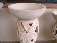 Light Pedestal with Leaf Motifs