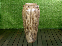 Extra Tall Urn with Handles (Brown Running)